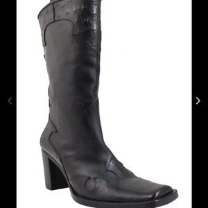 Via Spiga Leather Cowboy Boots Sz 10